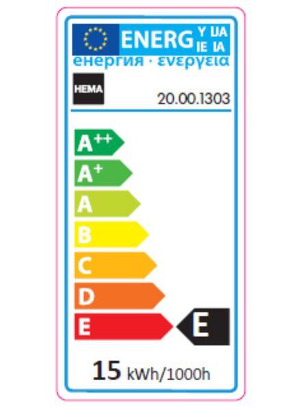 gloeilamp 15W - 90 lm - oven - helder - 20001303 - HEMA