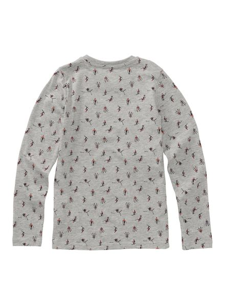 kinder t-shirt middengrijs middengrijs - 1000010755 - HEMA