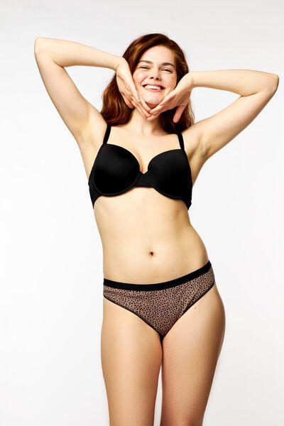 damesstring rib stippen bruin XL - 19616125 - HEMA