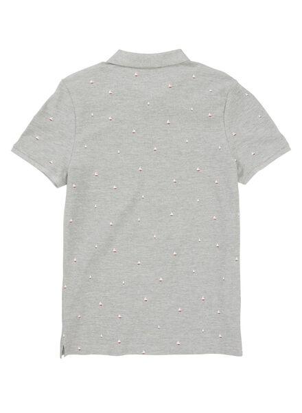 herenpolo grijs grijs - 1000013341 - HEMA