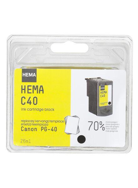 C40 vervangt PG40 black - 38390105 - HEMA