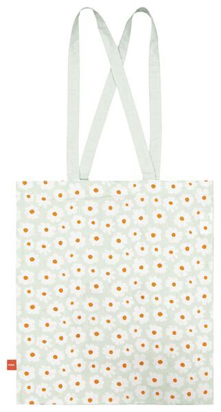 tas opvouwbaar canvas 40x36 bloem - 14590205 - HEMA