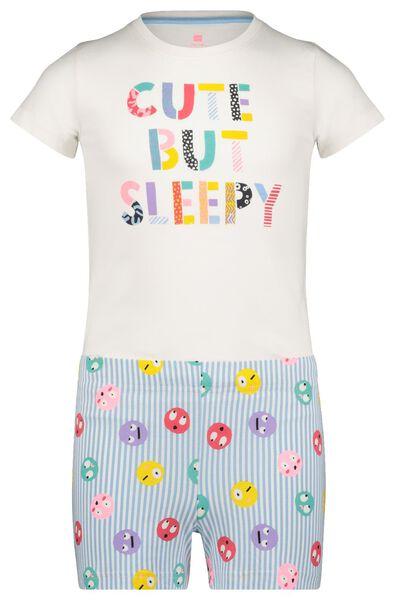 kindershortama 'cute but sleepy' gebroken wit gebroken wit - 1000022772 - HEMA