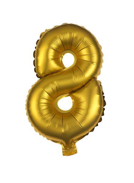 folieballon 8 - goud 8 goud - 60800508 - HEMA