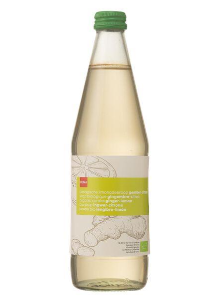 biologische limonadesiroop gember-citroen - 17400033 - HEMA