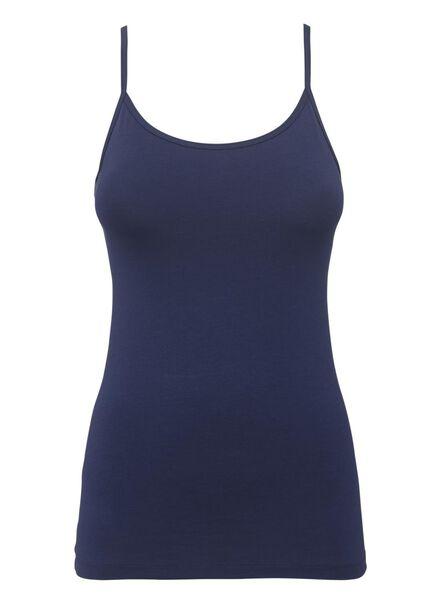 dameshemd katoen donkerblauw donkerblauw - 1000012243 - HEMA