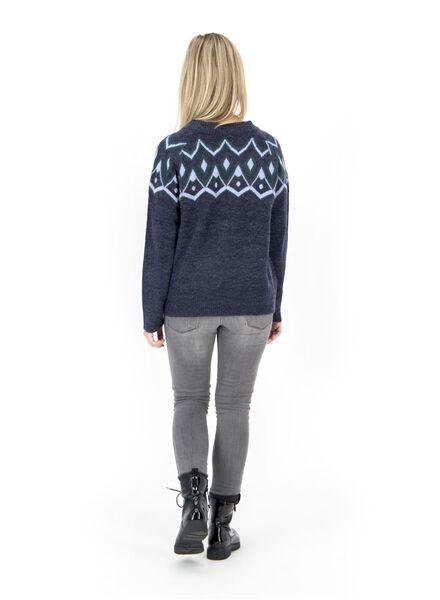 damessweater donkerblauw donkerblauw - 1000017122 - HEMA