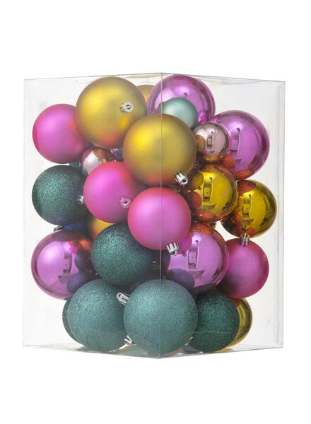 44-pak plastic kerstballen - 25100883 - HEMA