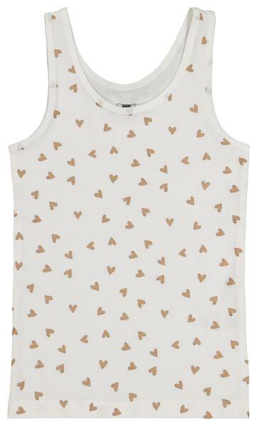 2-pak kinderhemden glitter gebroken wit gebroken wit - 1000020647 - HEMA