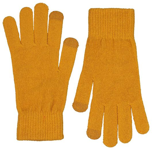 dameshandschoenen touchscreen okergeel - 1000020316 - HEMA