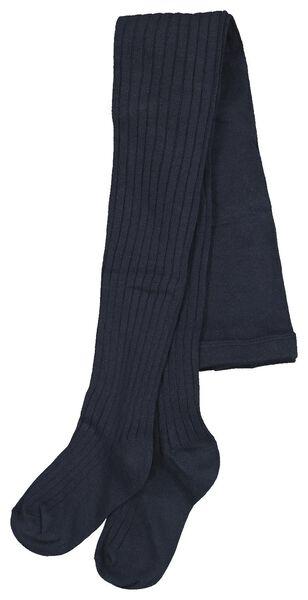 kindermaillot rib donkerblauw donkerblauw - 1000020486 - HEMA