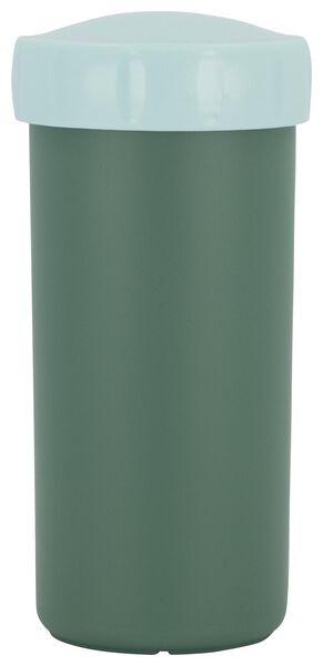 drinkbeker met deksel 300 ml groen - 80690033 - HEMA