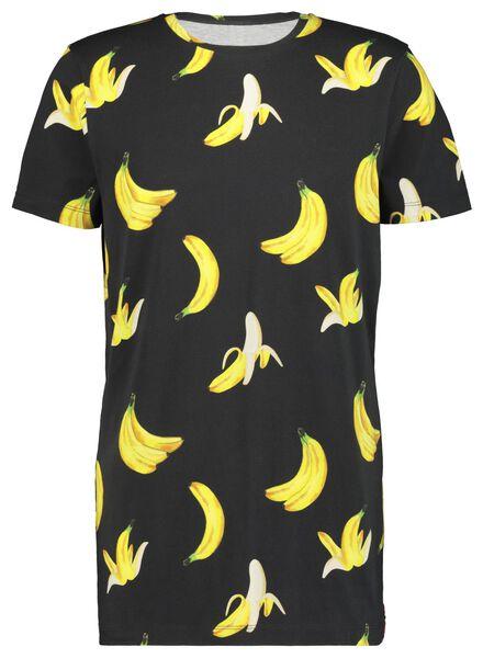 t-shirt voor volwassenen - Bananas&Bananas zwart zwart - 1000016539 - HEMA