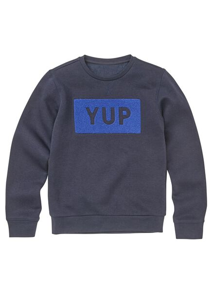 kindersweater donkerblauw - 1000010058 - HEMA