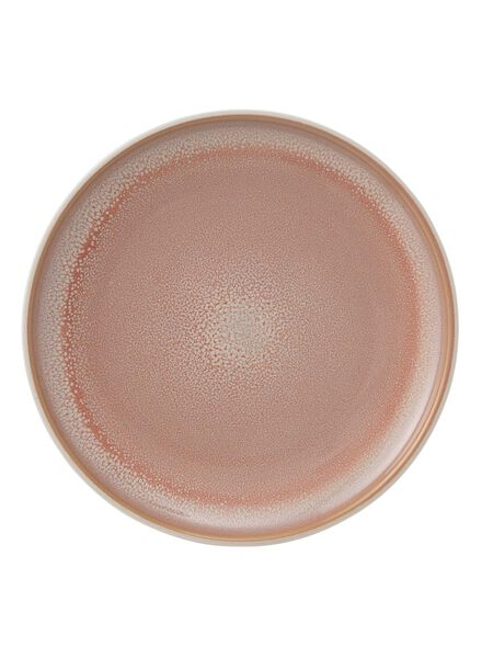 ontbijtbord 20 cm - reactief glazuur - roze - 9670201 - HEMA
