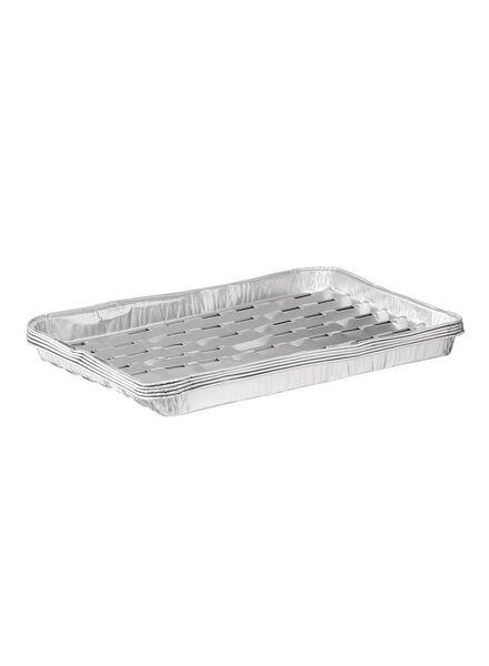 grillschaal - 22 x 34 - aluminium - 5 stuks - 80810286 - HEMA