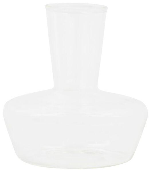 vaasje - 9 cm x Ø 8 cm - transparant glas - 13321009 - HEMA