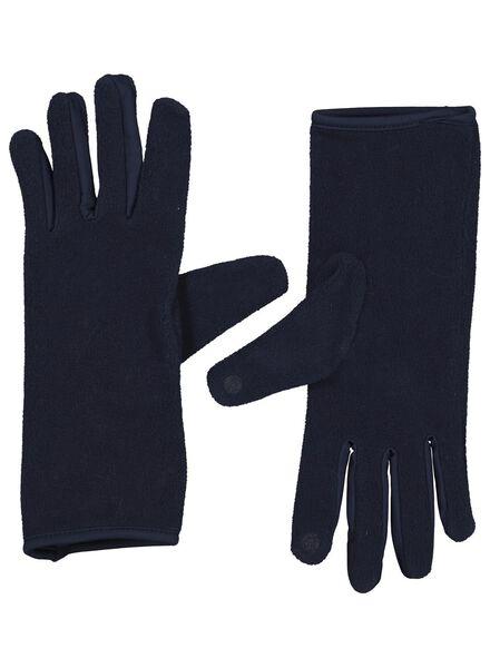 dameshandschoenen touchscreen blauw - 1000016774 - HEMA