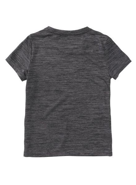 kinder sport t-shirt donkergrijs donkergrijs - 1000008338 - HEMA