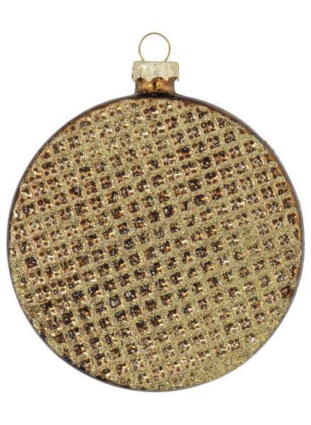 glazen kersthanger stroopwafel Ø 8.5 - 25104831 - HEMA