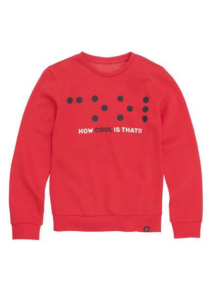 kindersweater rood rood - 1000011024 - HEMA