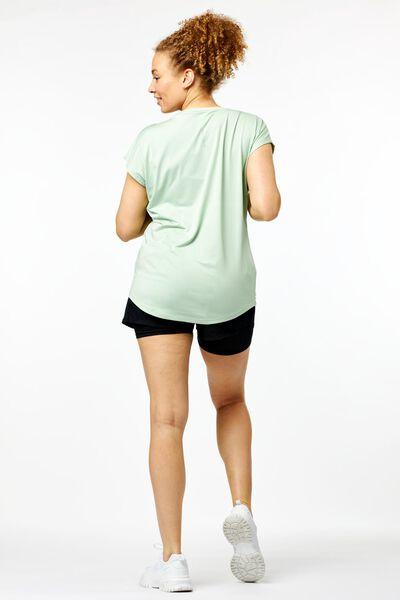 dames sportshirt mesh lichtgroen - 1000022873 - HEMA
