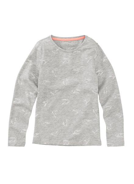 kinder t-shirt middengrijs middengrijs - 1000005024 - HEMA