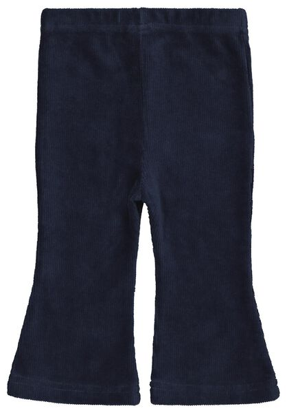babybroek rib flared blauw - 1000022022 - HEMA