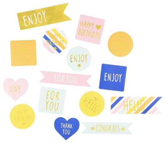 stickers - 15 stuks - 14700320 - HEMA