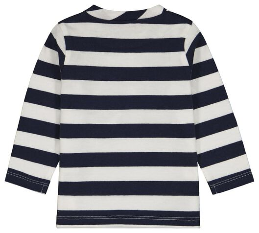 baby t-shirt strepen blauw blauw - 1000024467 - HEMA