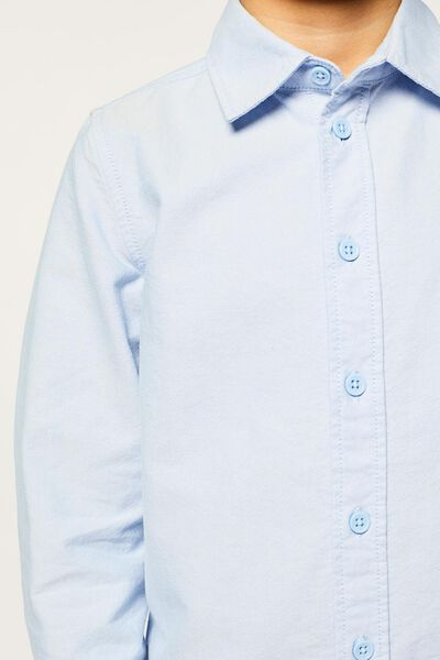 kinderoverhemd lichtblauw 122/128 - 30732931 - HEMA