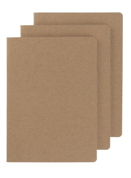 3-pak notitieboek A5 gelinieerd - 14522396 - HEMA