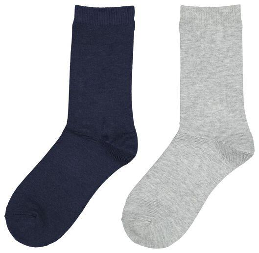 2-pak damessokken met bamboe donkerblauw donkerblauw - 1000020043 - HEMA
