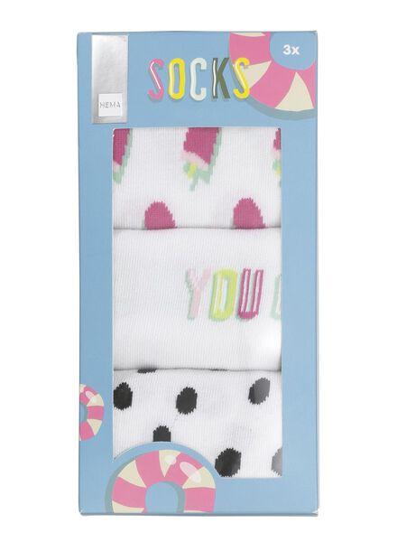 sokken - 3 paar maat 35-38 - 60500484 - HEMA