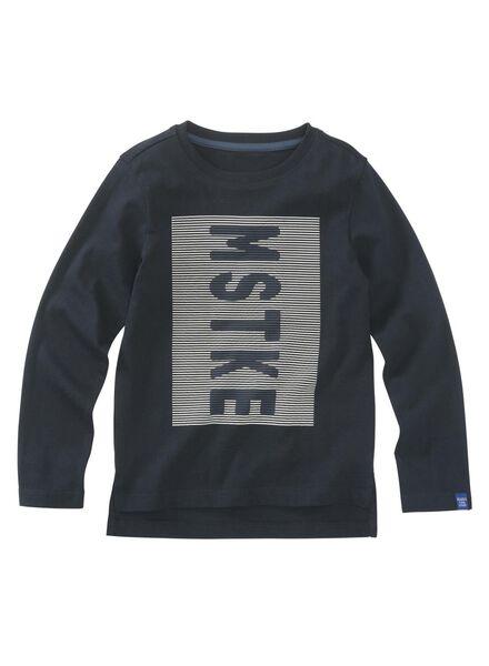 kinder t-shirt donkerblauw donkerblauw - 1000009391 - HEMA