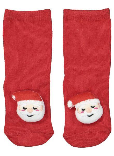 babysokken kerst rood rood - 1000016945 - HEMA