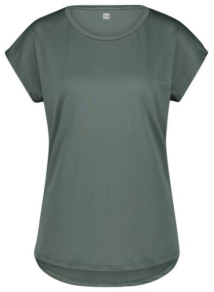 dames sport t-shirt mesh groen M - 36080462 - HEMA