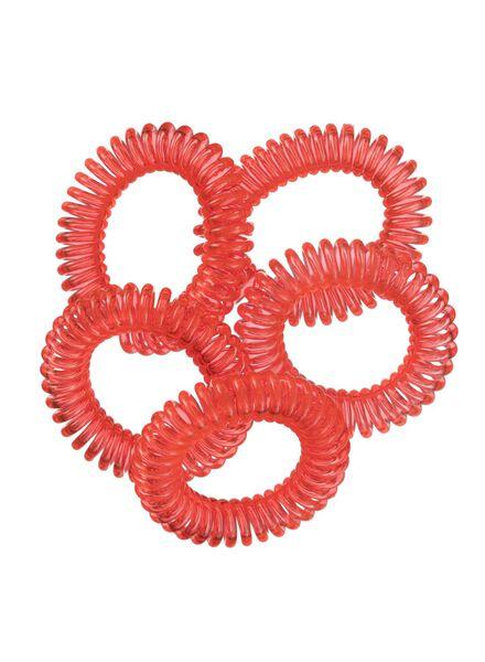 5-pak spiraal elastiekjes - 11870026 - HEMA
