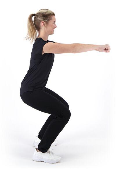 dames sportshirt zwart zwart - 1000020392 - HEMA