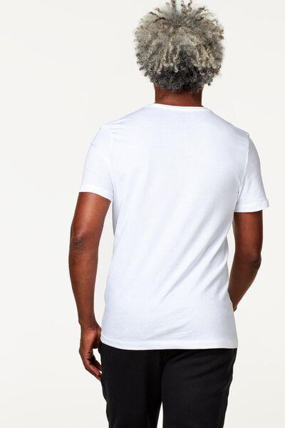 2-pak heren t-shirts V-hals wit XL - 34277046 - HEMA