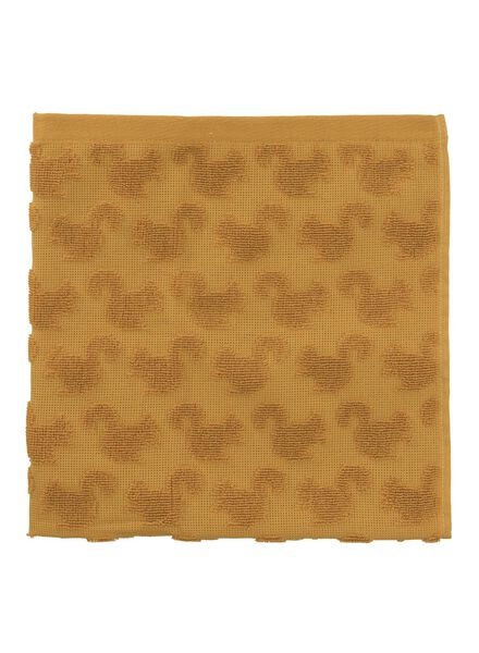 keukendoek - 50 x 50 - katoen - okergeel eekhoorn - 5430013 - HEMA