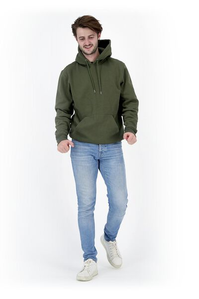 heren capuchonsweater legergroen legergroen - 1000020076 - HEMA