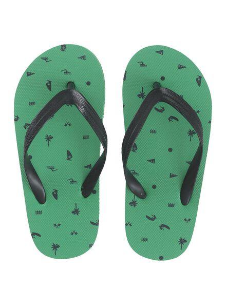 kinder teenslippers groen groen - 1000012972 - HEMA