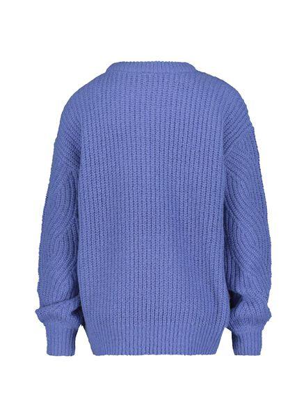 damestrui gebreid blauw blauw - 1000015470 - HEMA