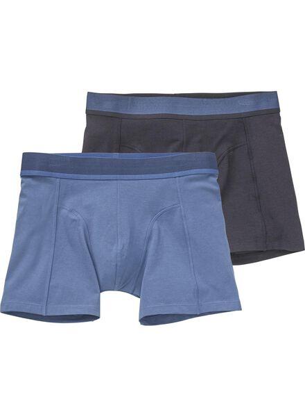 2-pak herenboxers met bamboe donkerblauw - 1000012129 - HEMA