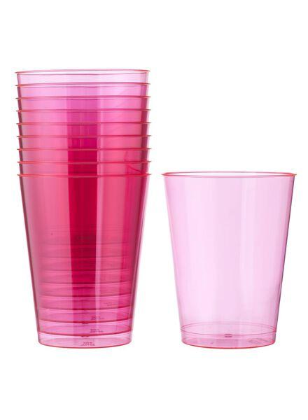 10-pak plastic glazen - 14259586 - HEMA