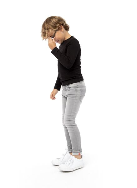 kinder jog denim grijs grijs - 1000003994 - HEMA