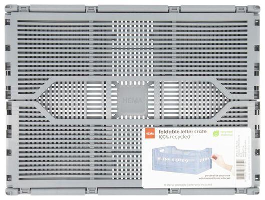 klapkrat letterbord recycled 30x40x17 - grijs grijs 30 x 40 x 17 - 39821035 - HEMA