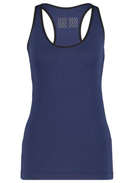 dames sportsinglet donkerblauw M - 36040227 - HEMA