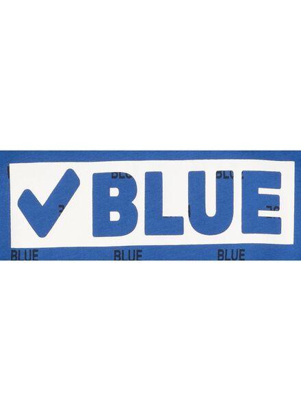 kinder t-shirt middenblauw - 1000008237 - HEMA